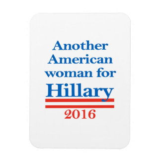 Mujer americana para Hillary Clinton Imán Foto Rectangular
