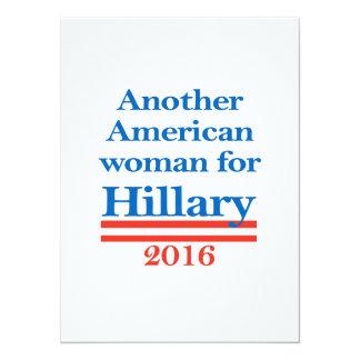 Mujer americana para Hillary Clinton Invitación 13,9 X 19,0 Cm