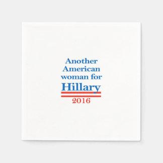 Mujer americana para Hillary Clinton Servilletas Desechables