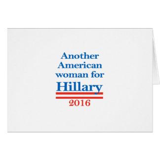 Mujer americana para Hillary Clinton Tarjeta De Felicitación