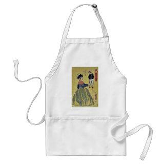 Mujer americana por Utagawa, Yoshitora Delantal