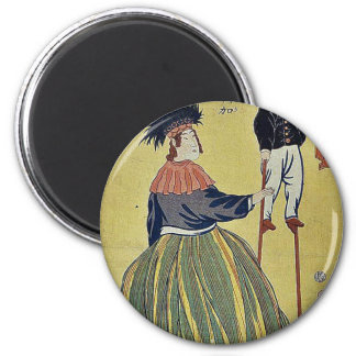 Mujer americana por Utagawa, Yoshitora Imán De Frigorífico