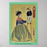 Mujer americana por Utagawa, Yoshitora Impresiones