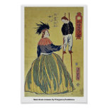 Mujer americana por Utagawa, Yoshitora Posters