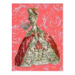Mujer apresurada vintage postales