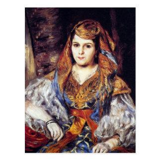 Mujer argelina de Pedro Renoir Postal