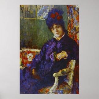 Mujer asentada de Maria Stevenson Cassatt Impresiones