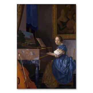 Mujer asentada en un Virginal por Vermeer