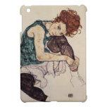 Mujer asentada Schiele- de Egon con la rodilla dob