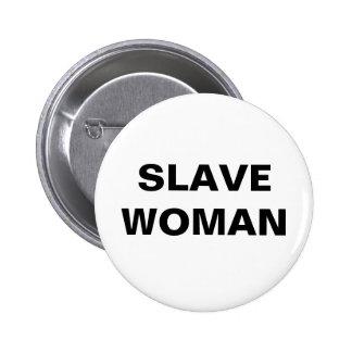 Mujer auxiliar del botón pins