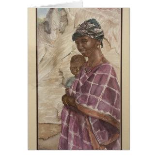 Mujer auxiliar tarjeta de felicitación