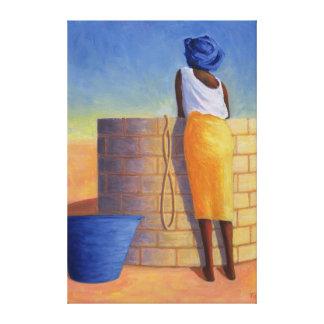 Mujer bien 1999 impresión en lienzo