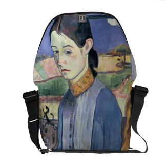 Mujer bretona joven, 1889 (aceite en lona) bolsas messenger