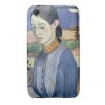Mujer bretona joven, 1889 (aceite en lona) carcasa para iPhone 3