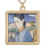 Mujer bretona joven, 1889 (aceite en lona) grimpolas personalizadas