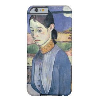Mujer bretona joven, 1889 (aceite en lona) funda para iPhone 6 barely there