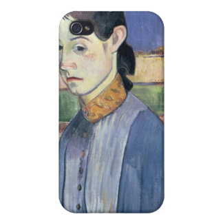 Mujer bretona joven, 1889 (aceite en lona) iPhone 4 carcasas