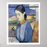 Mujer bretona joven, 1889 (aceite en lona) póster