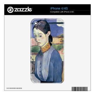 Mujer bretona joven, 1889 (aceite en lona) skin para el iPhone 4S