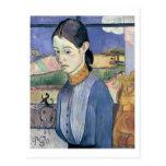 Mujer bretona joven, 1889 (aceite en lona) tarjetas postales