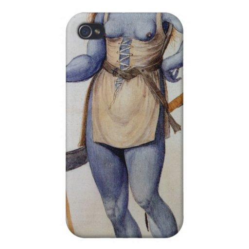 Mujer británica antigua iPhone 4/4S carcasa