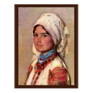 Mujer campesina de Muscel de Grigorescu Nicolae Tarjetas Postales