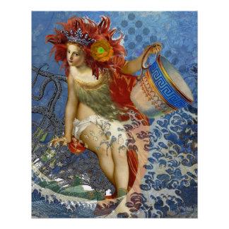 Mujer caprichosa gótica del acuario de la sirena perfect poster