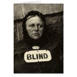 Mujer ciega, Nueva York 1917 Felicitación