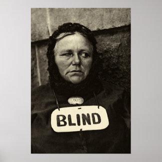 Mujer ciega, Nueva York 1917 Posters