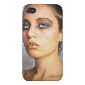 Mujer clásica de la señora de la pintura del retra iPhone 4 cárcasa