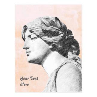 Mujer clásica postal