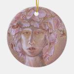 Mujer color de rosa <Outsider Art> Adorno