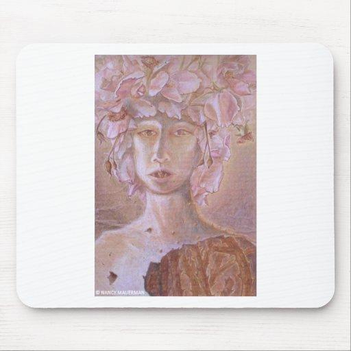 Mujer color de rosa <Outsider Art> Tapete De Ratones
