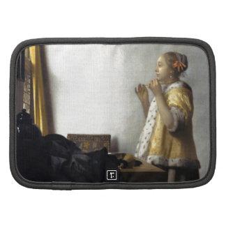 Mujer con el collar de la perla de Juan Vermeer Organizadores