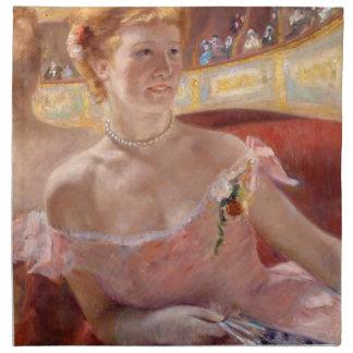 Mujer con el collar de la perla en un Loge - Mary Servilletas De Papel