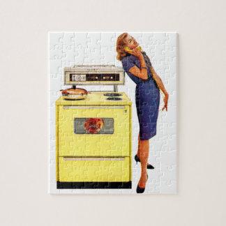 Mujer con el horno 1960 rompecabezas