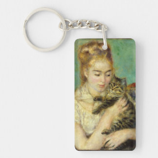 Mujer con el llavero del gato