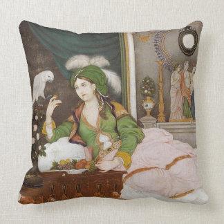 Mujer con el loro, almohada de tiro persa