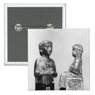 Mujer con el mantón pin cuadrada 5 cm
