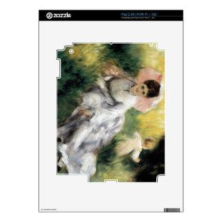 Mujer con el parasol de Pedro Renoir iPad 2 Calcomanía