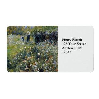 Mujer con el parasol en un jardín por Renoir Etiquetas De Envío