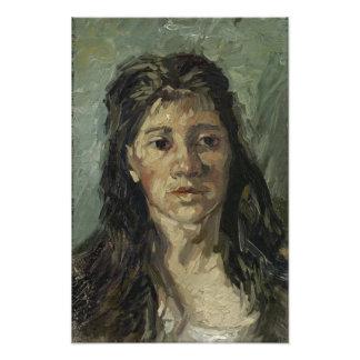 Mujer con el pelo flojo de Vincent van Gogh Fotografías