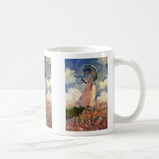 Mujer con estudio del parasol de Claude Monet Taza