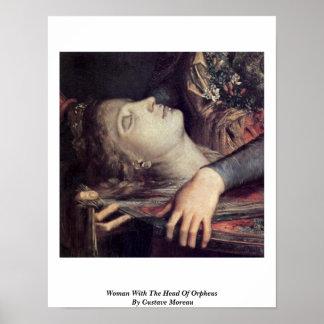 Mujer con la cabeza de Orfeo de Gustave Moreau Impresiones