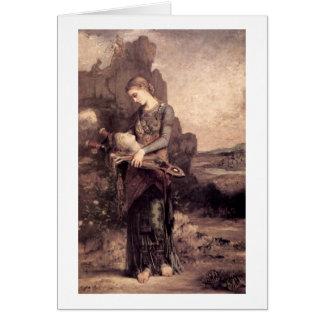Mujer con la cabeza de Orfeo de Gustave Moreau Felicitación