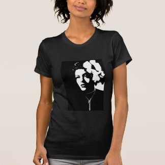Mujer con la flor camisetas