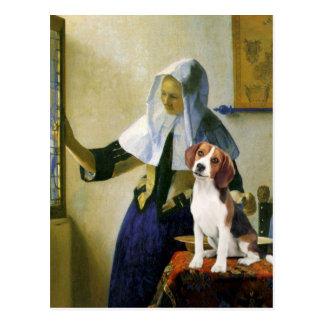 Mujer con la jarra - beagle 1 (P.M.) Postal