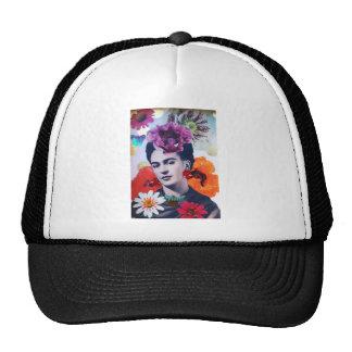 Mujer con las amapolas gorras