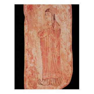 Mujer con las características chinas en Nestorian Postal