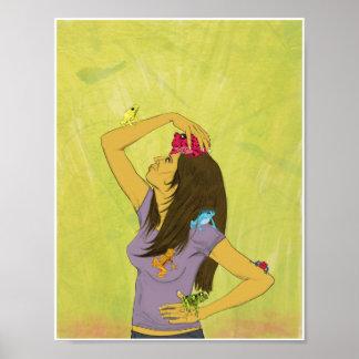 Mujer con las ranas 8.5x11 posters